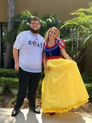 Michelle Winowich dresses up as Snow White for her