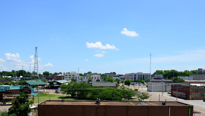 Downtown Jackson skyline from the roof of The Jackson Sun.