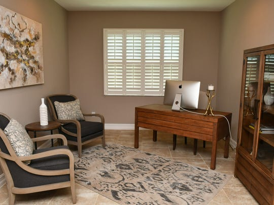 The office in a home in Strom Park in Viera.