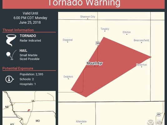 Weather Updates Multiple Tornado Warnings Issued In South Central Iowa