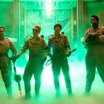 "Melissa McCarthy, Kate McKinnon, Kristen Wiig and Leslie Jones in a scene from ""Ghostbusters,"" opening nationwide on July 15."