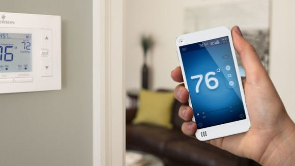 A smart thermostat is easy to program and adjust.