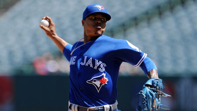 Marcus Stroman was 9-10 this season with the Blue Jays.