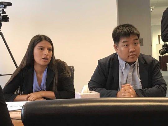 Gabriela Triveno, 19, of Passaic County and Tony Choi,