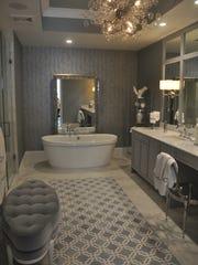 The master bathroom in the third floor model has a luxury look.