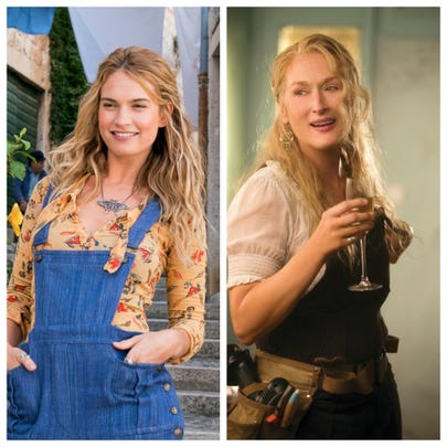 Lily James and Meryl Streep play two generations of