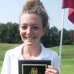 Earlier this season, White Lake Lakeland senior Emily Drouillard recorded her first hole-in-one during the Next Tee Tournament held at Oakland University's Katke Cousins Golf Course. Drouillard used an 8-iron to make the shot on the 112-yard, No. 8 hole for the first ace in program history. She carded a 104 for the 18-hole round.