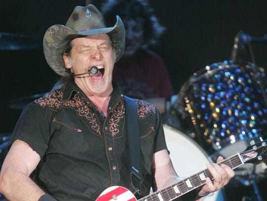Ted Nugent performing in 2012.