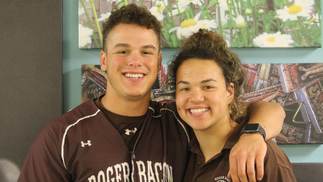 Roger Bacon twins Chris and Harmonie Kugele have hit the most home runs in school history by a brother-sister duo.