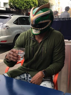 When he's not dressed as a Raiders punter, Marquette King likes to don a Power Ranger costume.