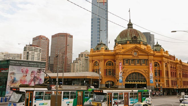 A tram passes Flinders Street Station on Aug. 14, 2012 in Melbourne, Australia. Melbourne recently ranked as the livable city in the world by the Economist Intelligence Unit's annual global livability index.