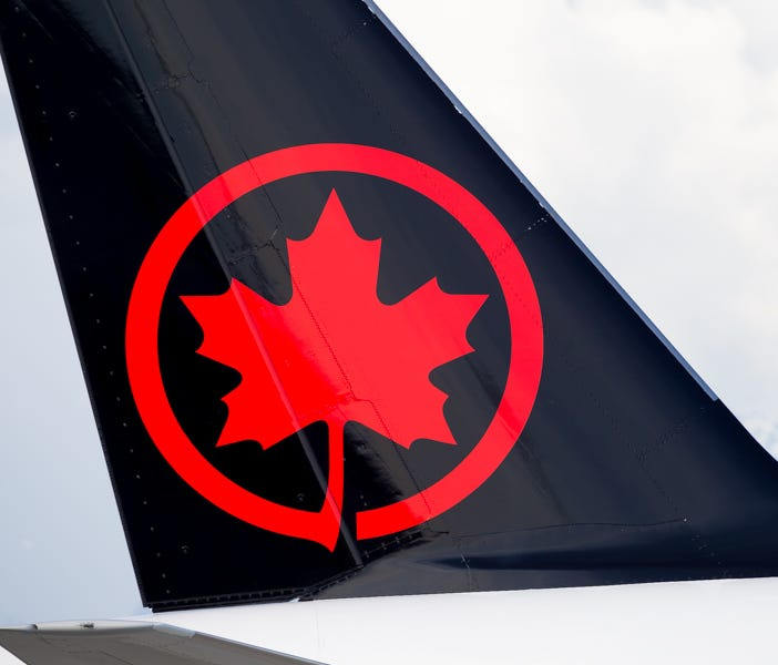 An Air Canada aircraft is seen at Canada's Vancouver International Airport in March 2018.