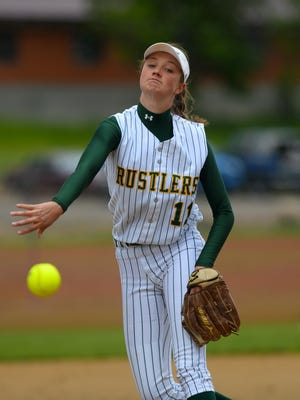 CMR pitcher Tristin Achenbach delivers to the plate earlier this season.