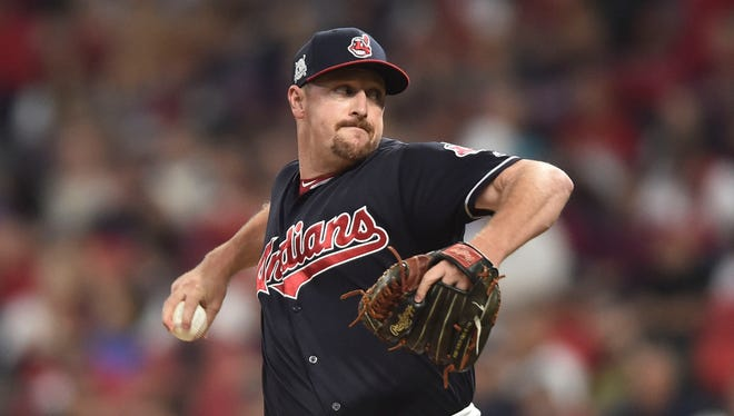 Bryan Shaw has been told he'll make Cleveland's 2021 Opening Day roster. [Ken Blaze/USA TODAY Sports]