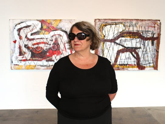 Artist Nancy Mitchnick, who is curating a series built