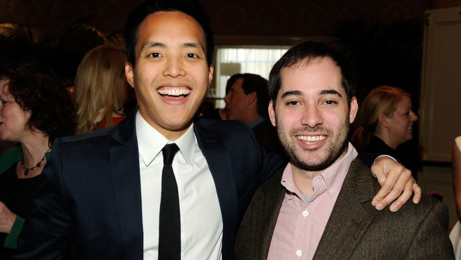 Alan Yang and Harris Wittels attend the 12th Annual AFI Awards held at the Four Seasons Hotel Los Angeles at Beverly Hills on January 13, 2012 in Beverly Hills, California.