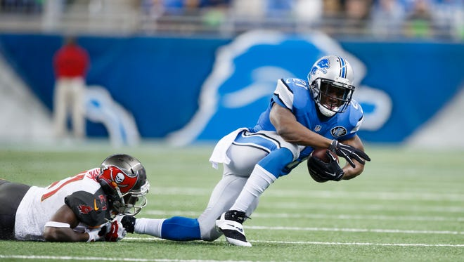 Lions running back Reggie Bush has been hampered by an ankle injury that has limited him to eight games and 217 yards this season.