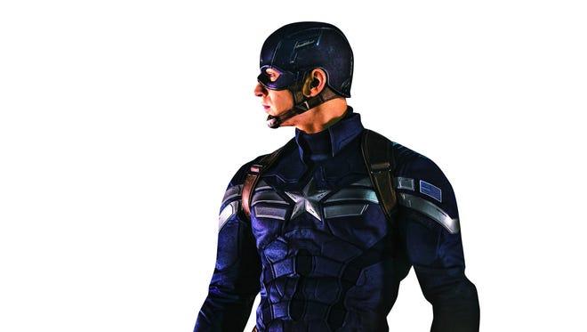 """Chris Evans stars as Capt. Steve Rogers in the """"Captain America"""" movie franchise."""