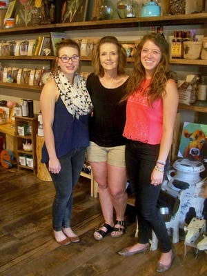 Dana Dean, owner Dana Huffmon and Kelsey Hernandez of Old Barrel Tea and Spice Company.
