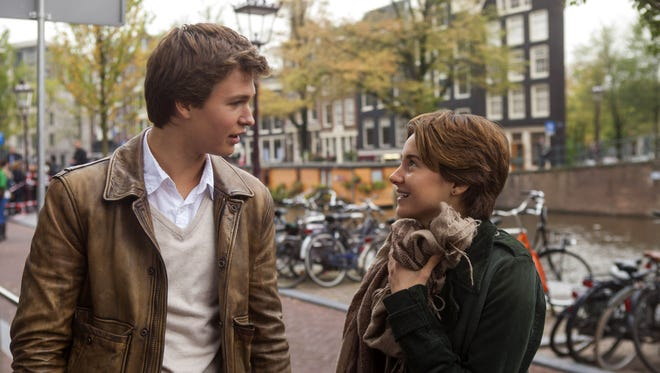 """Ansel Elgort, left, and Shailene Woodley in a scene from """"The Fault In Our Stars."""""""