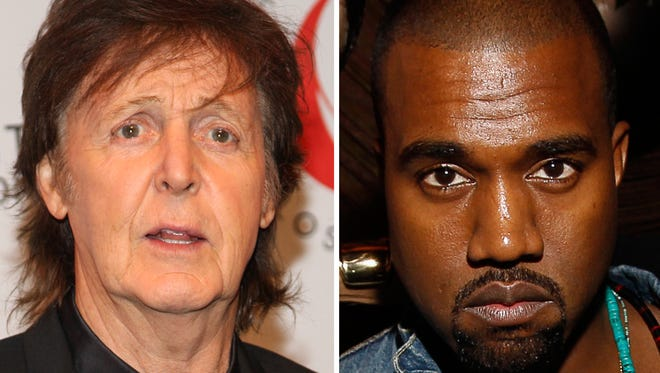 Paul McCartney and Kanye West.