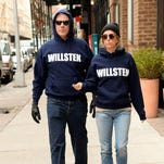 Will Ferrell and Kristen Wiig rocked those hoodies on Tuesday.