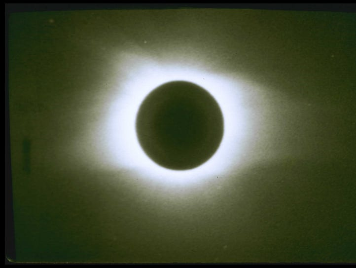 Total eclipse in 1963, taken from Moose River Crossing,