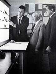 This photo from the 1964 NMSU yearbook shows Bradford Smith, left; Clyde Tombaugh, center; and Jim Robinson.