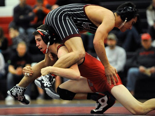 Manitowoc Lincoln's Jose Acosta won his first-round match at the WIAA State Tournament Thursday afternoon