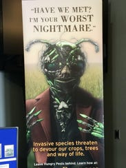 This is one of the displays at the invasive species