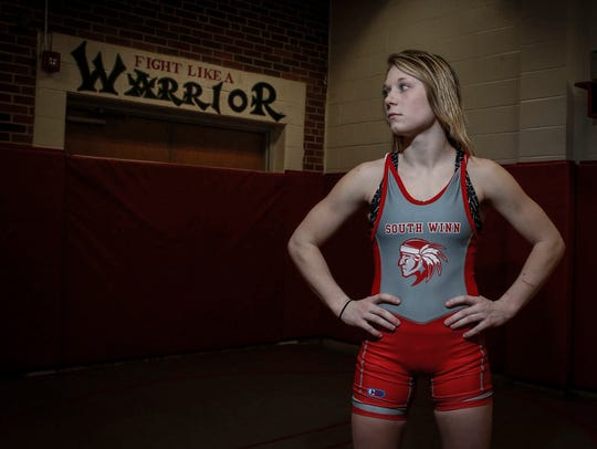 South Winneshiek junior Felicity Taylor began wrestling