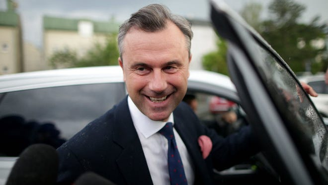 Norbert Hofer in Vienna on May 19.