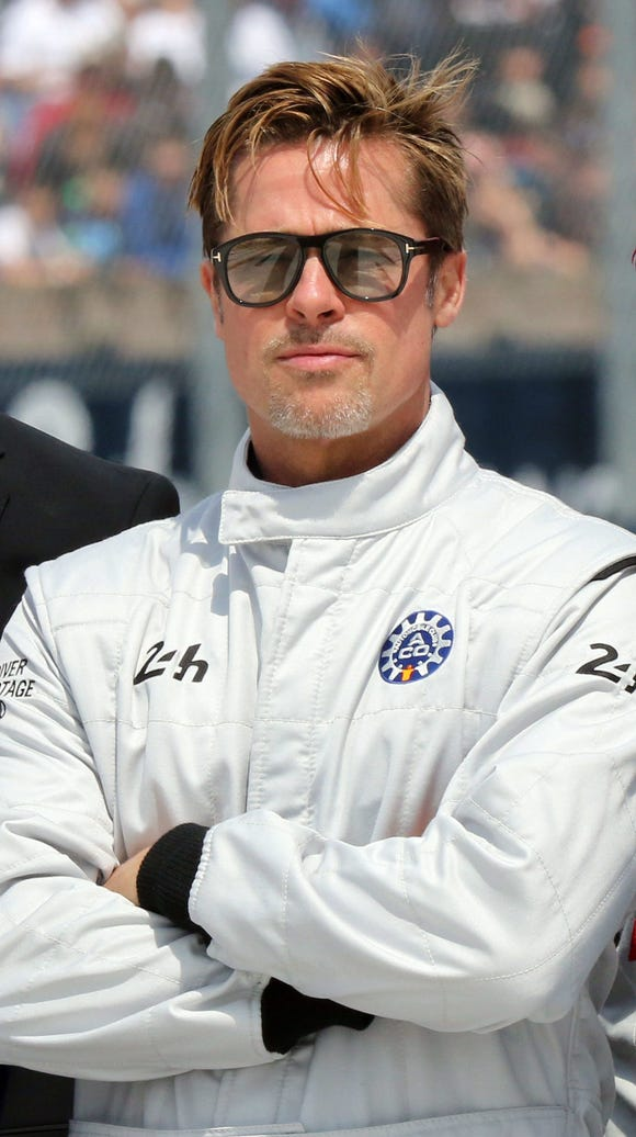 Brad Pitt got to ride around the track at the start
