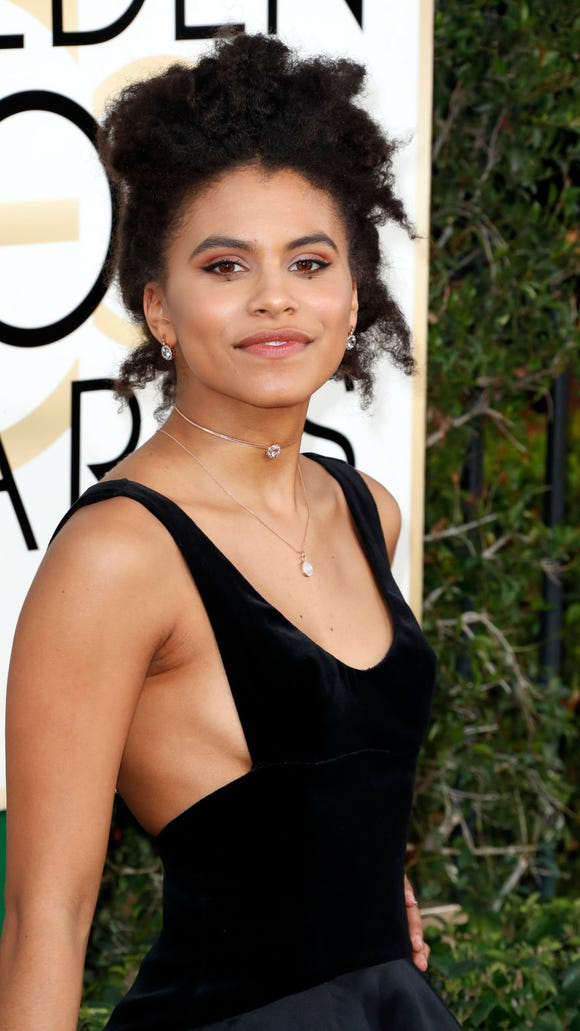 Zazie Beetz stunned at the Globes.