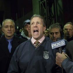 N.Y. police union chief Patrick Lynch criticizes the mayor Saturday.