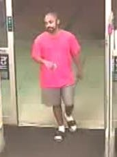 Security footage from CVS shows the alleged robber in the store early Sunday.