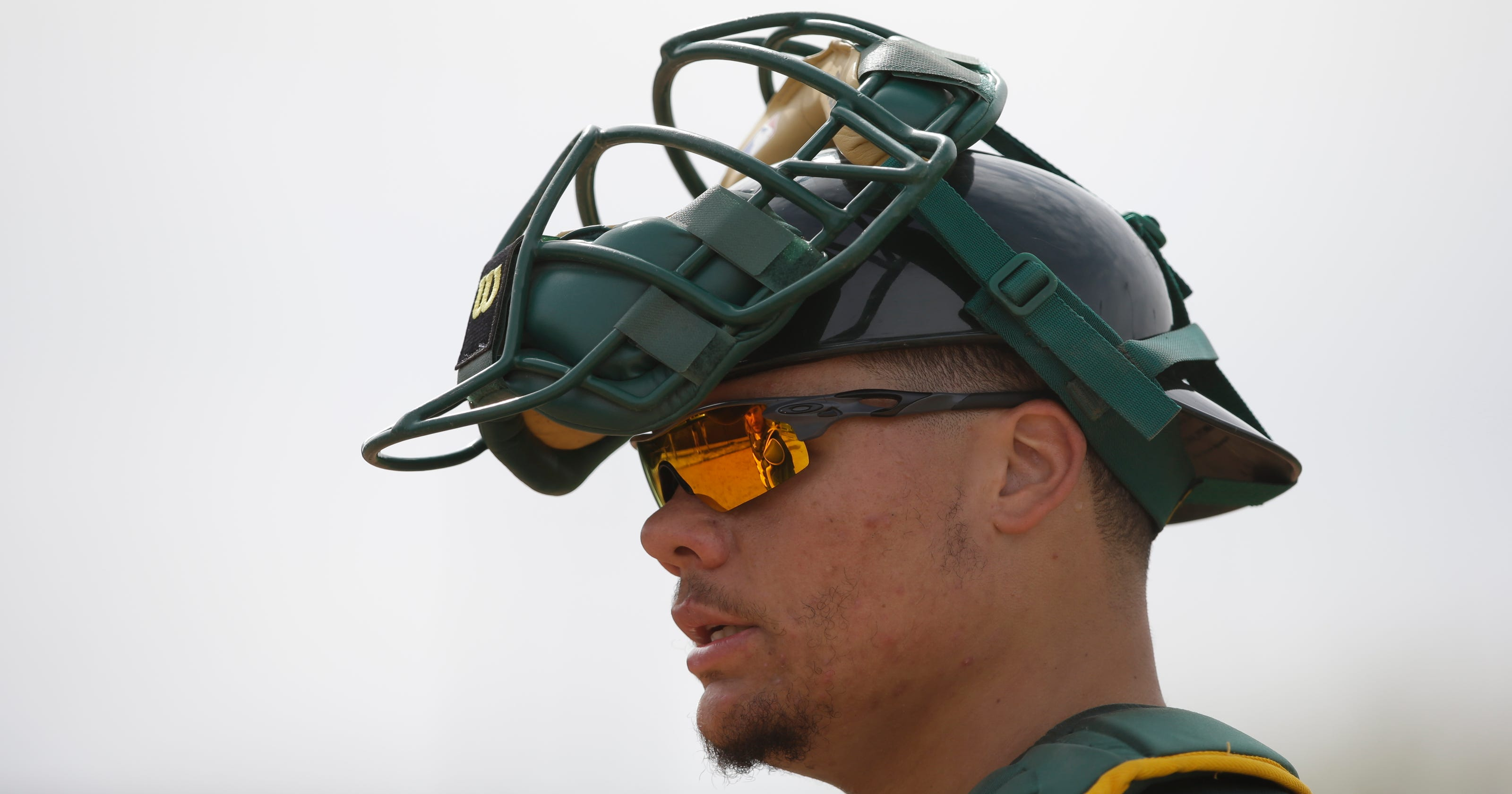 7326c0190e1 Oakland A s catcher Bruce Maxwell held in Scottsdale on suspicion of  pointing gun at woman
