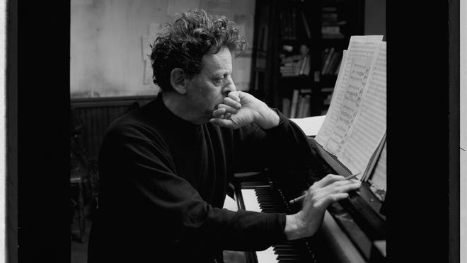 Composer Philip Glass will perform at the Irvington Town Hall Theater.