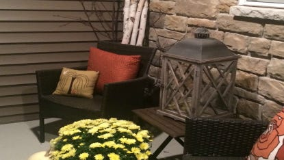 Give your spaces a fresh, fall-like feel–both inside and out.