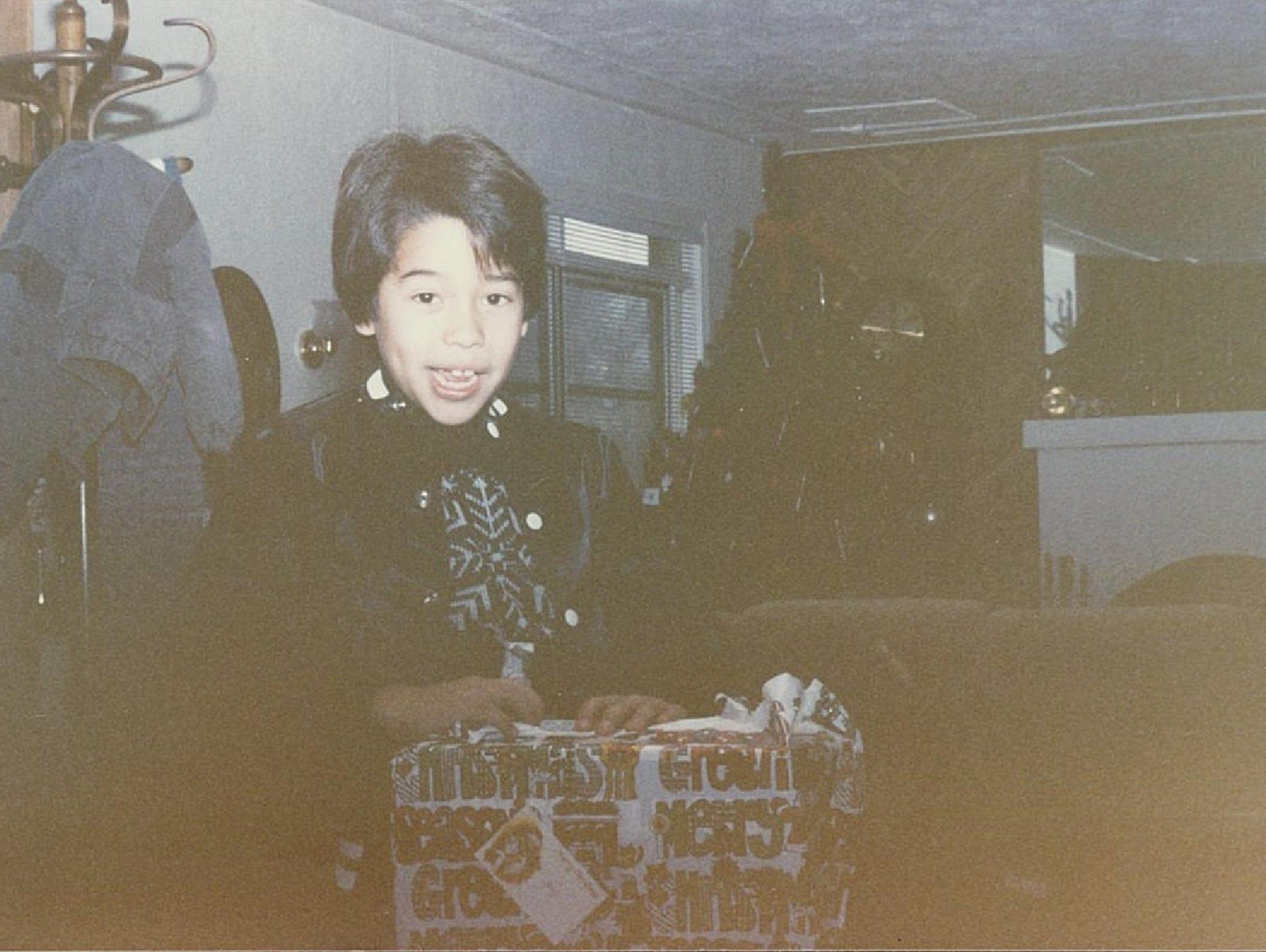 Tony Jaramillo celebrates Christmas in the late 1980s.