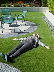 You've never seen artificial grass pool decking like