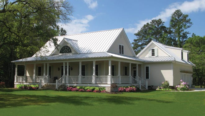 The wraparound porch presents the perfect place to enjoy a cold drink when the weather heats up.