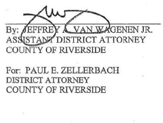 Former Riverside County district attorney Paul Zellerbach