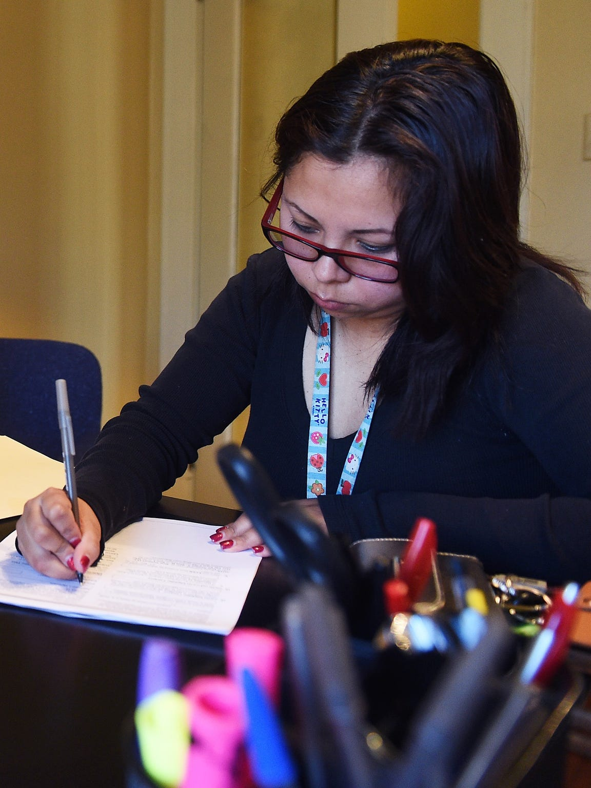 DACA student and resident of Reno Maria Roberto, right,
