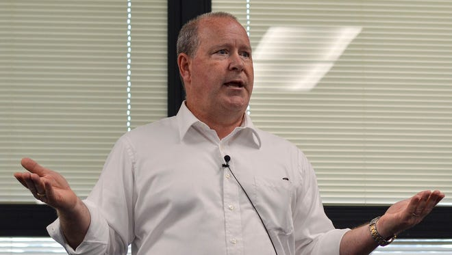 Rep. Larry Buchson (R-IN) used Thursday's town hall at West Vigo Elementary in Terre Haute as a way to hear his constituents out and also make his viewpoints known Aug. 22, 2017.