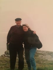 Jim and Georgiann Potts at Land's End in England.