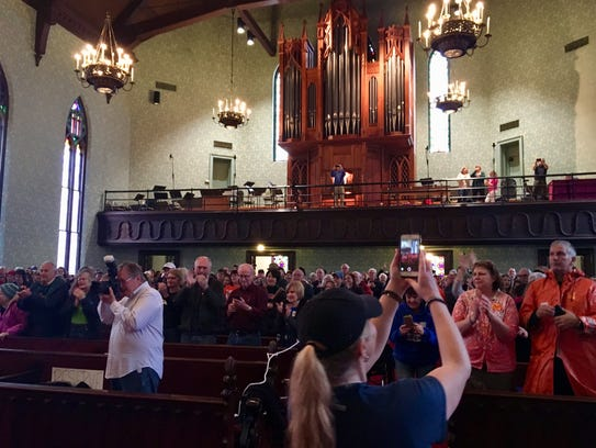 Hundreds gathered at First Presbyterian Church for