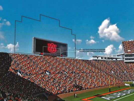 Auburn Jordan Hare Stadium north end zone