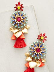Hothouse drop earrings $388, Anthropologie, City Place, Edgewater, Tice's Corner and Westfield Garden State Plaza