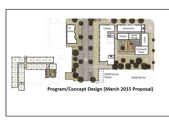 The 2015 floor plan for the Dewitt House. This floor